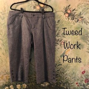 NWOT Tweed Cropped Work Pants - Fully Lined sz14